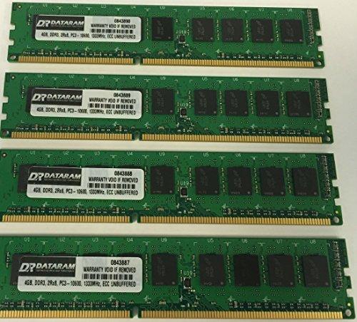 Kit de Memoria de 16 GB (4 x 4 GB) para DELL PowerEdge T110 II