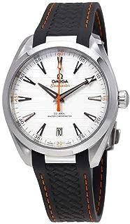 Omega Seamaster Aqua Terra Teak Silver Dial Mens Watch on Grey Rubber Strap 220.12.41.21.02.002