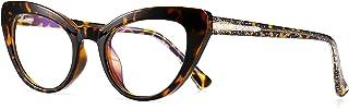 نظارات كمبيوتر أنيقة عين القطة الزرقاء من صن جيت نظارات حجب الضوء للنساء