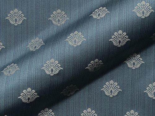 Möbelstoff PAGANINI FR 931 Muster Abstrakt Farbe blau als robuster Bezugsstoff, Polsterstoff blau gemustert zum Nähen und Beziehen, Polyester FR, schwer entflammbar