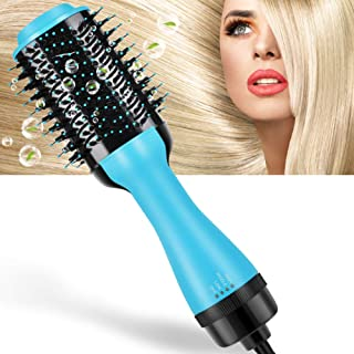 Hair Dryer Brush, MANLI One Step Hair Dryer & Volumizer,4 In 1 Negative Ion Hot Air Brush for Drying & Straightening & Curling, Salon Ceramic Electric Rotating Blow Dryer Brush