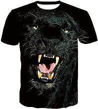 XJWDTX Summer Star Moonlight Wolf T-Shirt mit 3D-Druck Kurzarm Digital Top Explosion f/ür Herren
