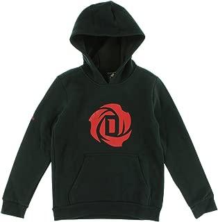 adidas Boys D Rose Logo Hoodie Black