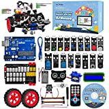 OSOYOO Arduino Uno グラフィカル プログラミング ロボットカー スターター キット| コーディング構築学習のためのリモート制御 STEM 機械式 電動 ロボティクス | 子供 向けの 教育向け コーディング