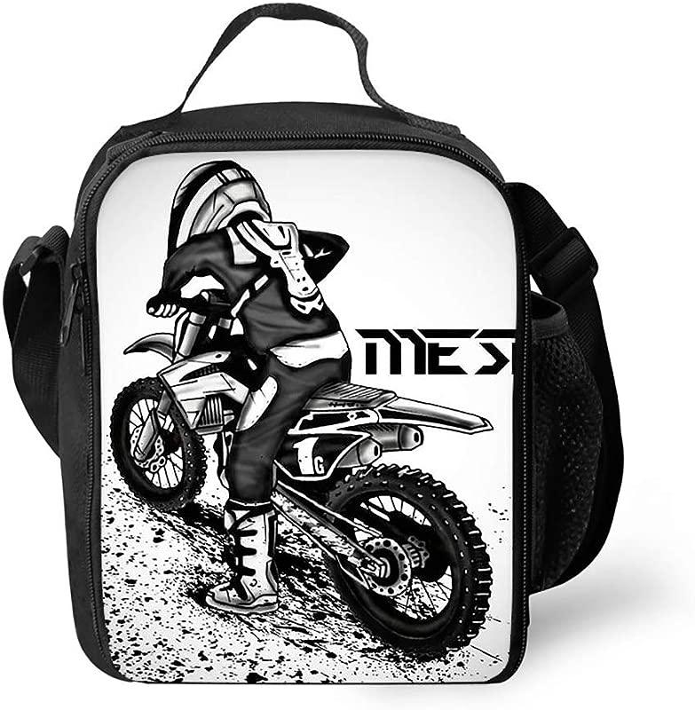 Reusable Dirt Bike Motocross Lunch Tote Bags Lunch Bag Lunch Box Tote Bag Handbag