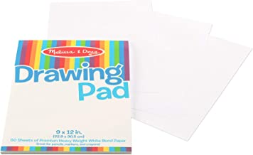 Melissa & Doug 4108 Drawing Pad (9 x 12 inches) with 50 Sheets of White Bond Paper