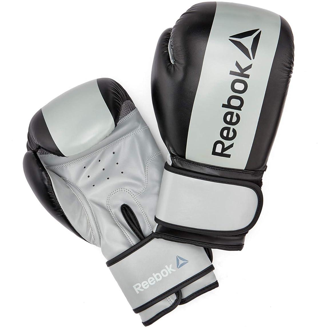 潮宇宙船お酢Reebok(リーボック) コンバット ボクシンググローブ 16 oz Boxing Gloves - Grey フィットネス ボクササイズ RSCB-11116GR