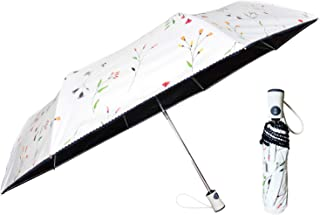 Flower Style Sun Umbrellas for Girls,Travel Umbrellas/Snow Umbrellas for Women,Best Umbrellas Women/Clear Umbrellas for Girls/Windproof Double Canopy Umbrella-Auto Open/Close Button(Off White)