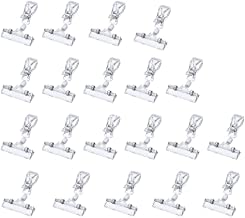 50PACK Clear Plastic Rotatable POP Clip-on Style Merchandise Sign Display Clip Tag Holders