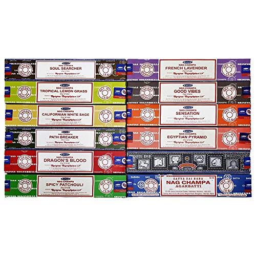 Satya Räucherstäbchen, 180 g, 12 Schachteln Premium