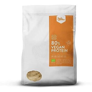 Proteine Vegane BIO 80% in Polvere Gusto Neutro 1 Kg | SOUTH GARDEN | Senza Glutine | Alto contenuto di Aminoacidi Ramificati (BCCA), Lisina e Arginina | Senza Glutine | Senza Lattosio