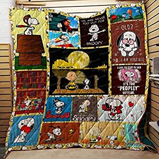 Fleece Details about  /Stay Strong Quilt Blanket Print in USA Be Confident Snoopy
