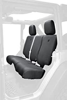 Bestop 29284-35 Black Diamond Rear Seat Cover for 2007 & 2013-2018 Jeep Wrangler Unlimited