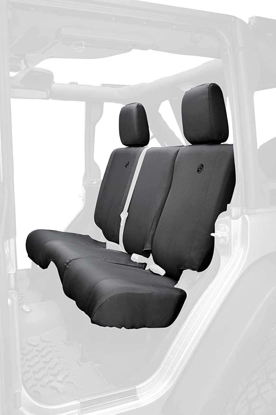 Bestop 29284-35 Black Diamond Rear Seat Cover for 2007 & 2013-2018 Jeep Wrangler Unlimited