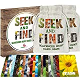 Kids Games - Seek and Find Scavenger Hunt Card Game - Outdoor Indoor Toys for Family Toddlers Age 3-5 4-8 8-12 Outside Activities