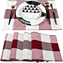 """Set of 4 Waterproof Heat Resistant 12""""x18"""" Table Place Mats"""