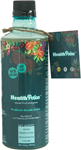 Health Potion ORGANIC Probiotic drink Mixed fruit Enzymes 500 servings with billions of CFU Vit B12 and 20 nutrients