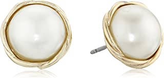 Anne Klein Gold-Tone Small Twisted Stud Earrings