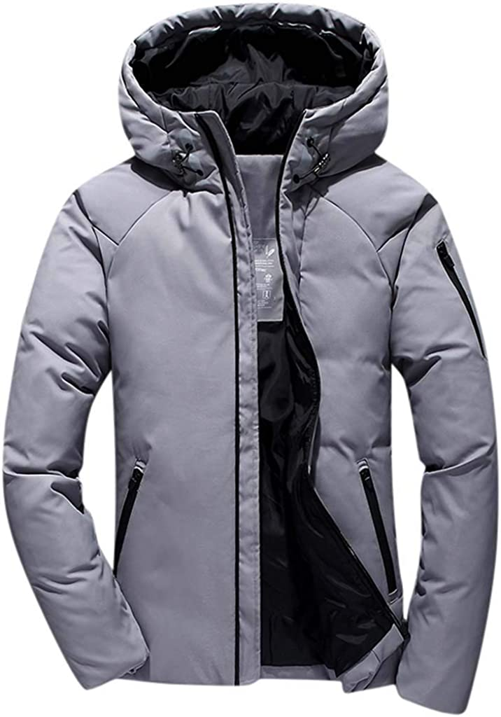 NRUTUP-Mens Cycling Puffer Jacket Water-Resistant Mountain Jacket Windproof Down Jacket Active Outdoor Parkas Overcoat