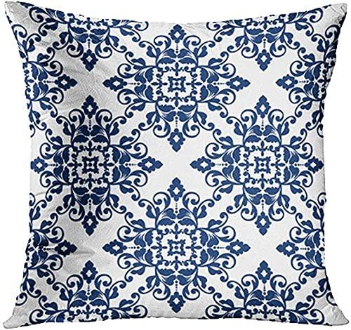 BONRI Funda de Almohada de algodón con Estampado de Leopardo y Leopardo Negro y Rosa para decoración del hogar, Bonito Regalo, Funda de Almohada Interior, tamaño estándar -5-(20×20)