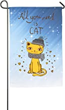 FOOOKL Cute Kitty Home Family Party Flag Hipster Welcomes The Banner Garden Flags