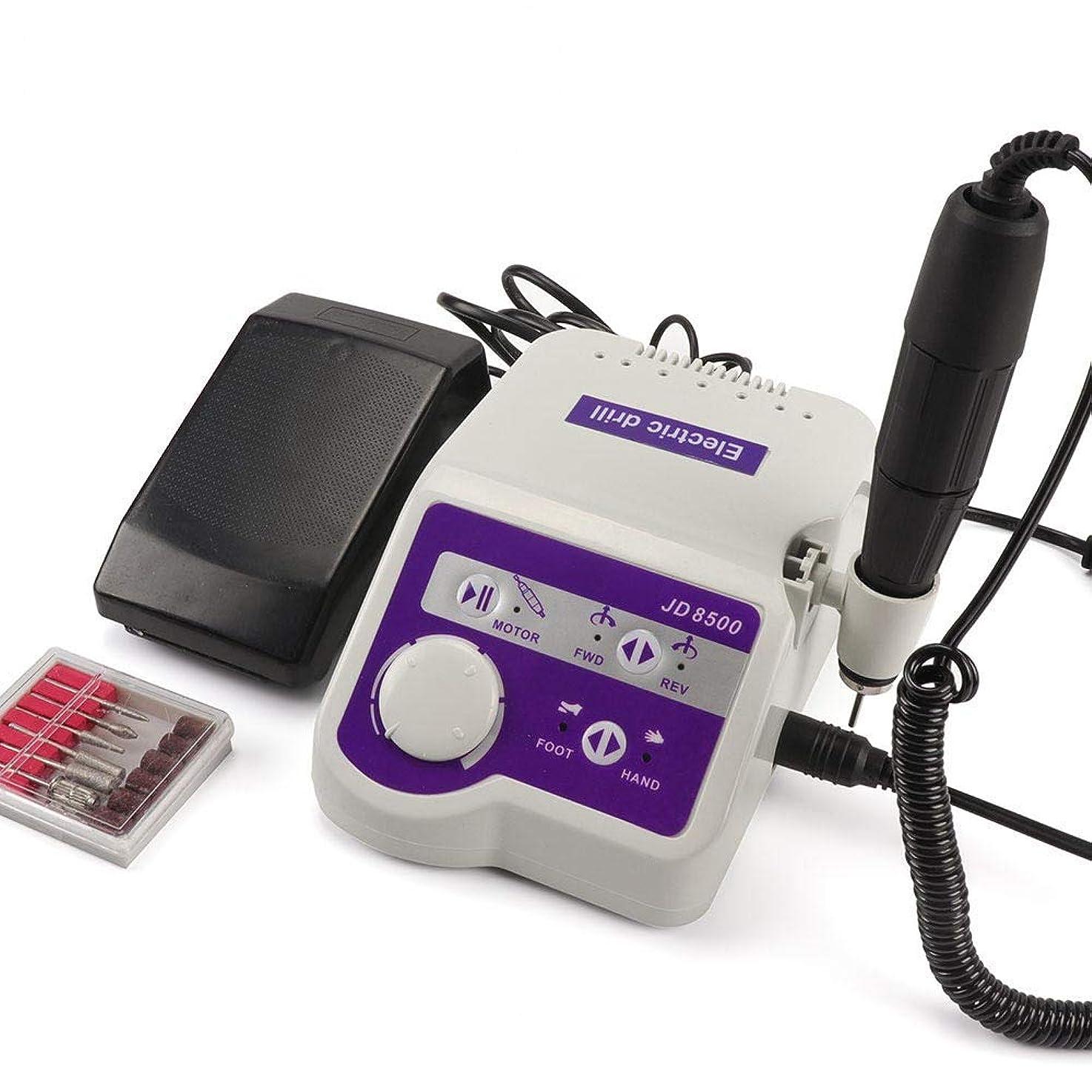 朝ごはん下位出来事65ワット35000 rpmプロフェッショナルJD8500電動ネイルドリル機35000 rpmマニキュアツールペディキュアポリッシャーネイルアート機器