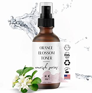 Orange Blossom Water Face Toner - 100% Natural Daily Facial Toner, Alcohol-Free for Sensitive Skin Acne and Breakouts - Be...