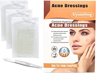 CCbeauty Acne Pimple Patch Healing Spot Master Blemish Patches, Hydrocolloid Stickers Absorbing Spot Dot Acne Cover Treatment,Set of 108pcs with 1 Tweezers