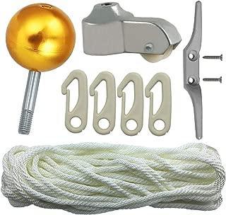 Flagpole Repair Parts Kit - 50 Feet Flag Halyard Rope + 3