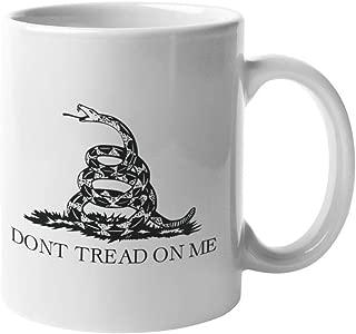 Don't Tread On Me Coffee Mug | Gadsden Flag Mug | 11-Ounce Ceramic Mug | Long Lasting Dye Sublimation Process Pro 2A Second Amendment Molon Labe Come and Take It | CM1004