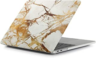 Miss flora MAC accessories .Beige White Gold Texture Marble Pattern Laptop Water Decals PC Protective Case for MacBook Pro 15.4 inch A1990 (2018)