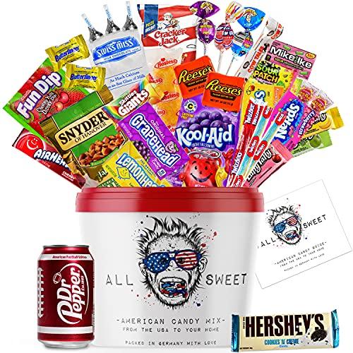 ALL SWEET 20 Teile Amerikanische Süssigkeiten Box XXL, Süßigkeiten Großpackung die Mystery Box, Nerds, Hostess Twinkies oder Twizzlers, Überraschungsbox USA