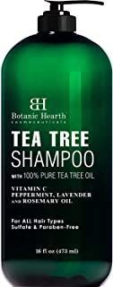 Sponsored Ad - Botanic Hearth Tea Tree Shampoo - Fights Dandruff and Dry Scalp - For Daily Use - Men and Women, Promotes H...