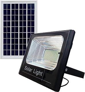 Solar Floodlight Light White LED 150 Watt - Remote Control - Waterproof - automatically operates all night long