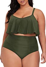 $24 » Sponsored Ad - Sovoyontee Women's 2 Piece Plus Size High Waisted Swimsuit Bathing Suit