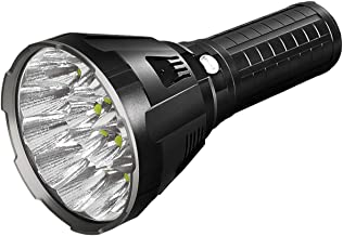 IMALENT MS18 Bright Flashlight 100,000 Lumens, 18pcs Cree XHP70 2nd LEDs,Long Throw Up to 1350 Meters, with OLED Display and Built-in Cooling Tools (MS18W Warm White Light)