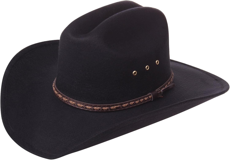 Enimay Faux Felt Western Style Pinch Front Straw Canvas Cowboy Cowgirl Straw Hat