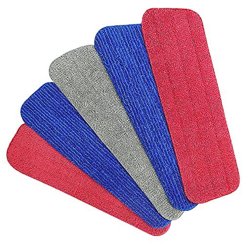 Aiglam Mop Microfaser Reinigung Pads, Spray Mop Ersatz Pads Schmutz und Wasseraufnahme Für Spray Mops und Reveal Mops Waschbar 15.8 * 4.8 Inches
