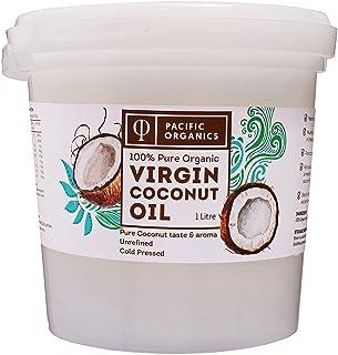 Pacific Organics Organic Virgin Coconut Oil Pail, 1 litres