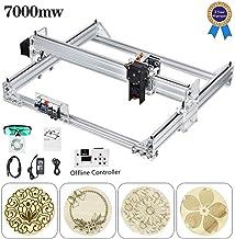 CNC Kit machine /à graver laser 65 x 50 cm 2 axes Machine /à gravure laser 12 V avec manette offline pour bois /étui /à lettres t/él/éphone Shell plastique