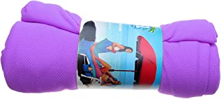 TT WARE Outdoor Portable Magic Ice Towel Sunbath Lounger Bed Cooling Beach Chair Cover-Purple