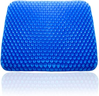 POVAST Seat Cushion Long Periods Seating Pad Breathable Home Office Wheel Chair Leg Butt Hip Support, Tailbone Pain Relief, Larger
