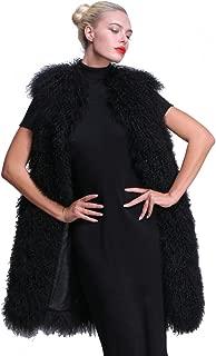 Women Winter Coat Real Mongolian Lamb Fur Vest Multicolor