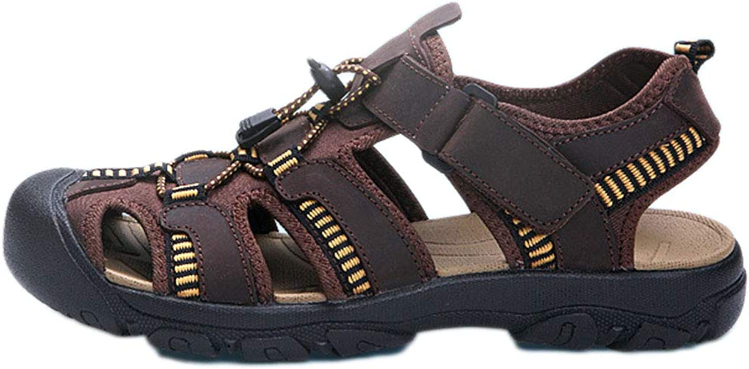 Mens Trail Sandals,Summer,Athletic,Breathable,Offroad, Outdoor Leather Sandals Hiking Breathable Sports Beach shoes