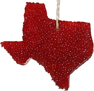 ChicWick Car Candle Leather Fiery Texas Shape Car Freshener Fragrance