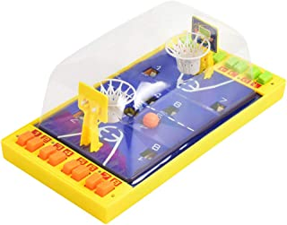 Mini Basketball Table Game - Desktop Arcade Hoops Slap Shot Miniature Game for Ages 3 and Up   Classic Mini Basketball Tournament Table Top Games for Sports Fans and Fanatics, Random Color