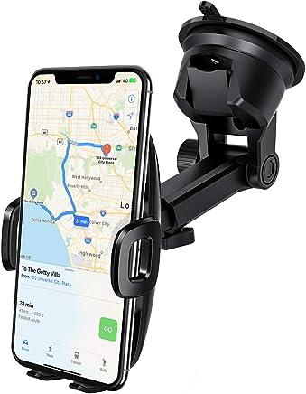 Mpow Support Téléphone Voiture [Nouveauté] pour Tableau de Bord Pare-Brise,2 Niveaux Aspiration,Réutilisable Support de Téléphone Support Voiture Téléphone GPS pour iPhone,Samsung,HTC,Huawei,LG,etc