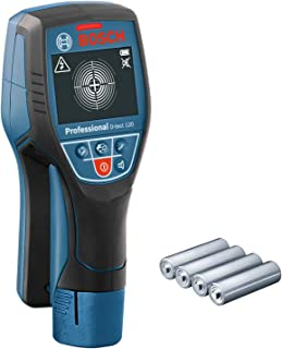 Bosch Professional Wall Scanner D-tect 120 (4 x AA batteries, max. detection depth plastic pipes/wooden studs/live cable/m...