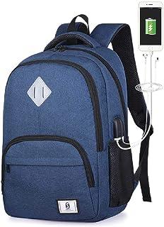 ZXW Nueva Mochila De Carga USB Mochila Al Aire Libre Mochila Oxford Cloth College Bag Masculino Talla única/Music USB Royal Blue
