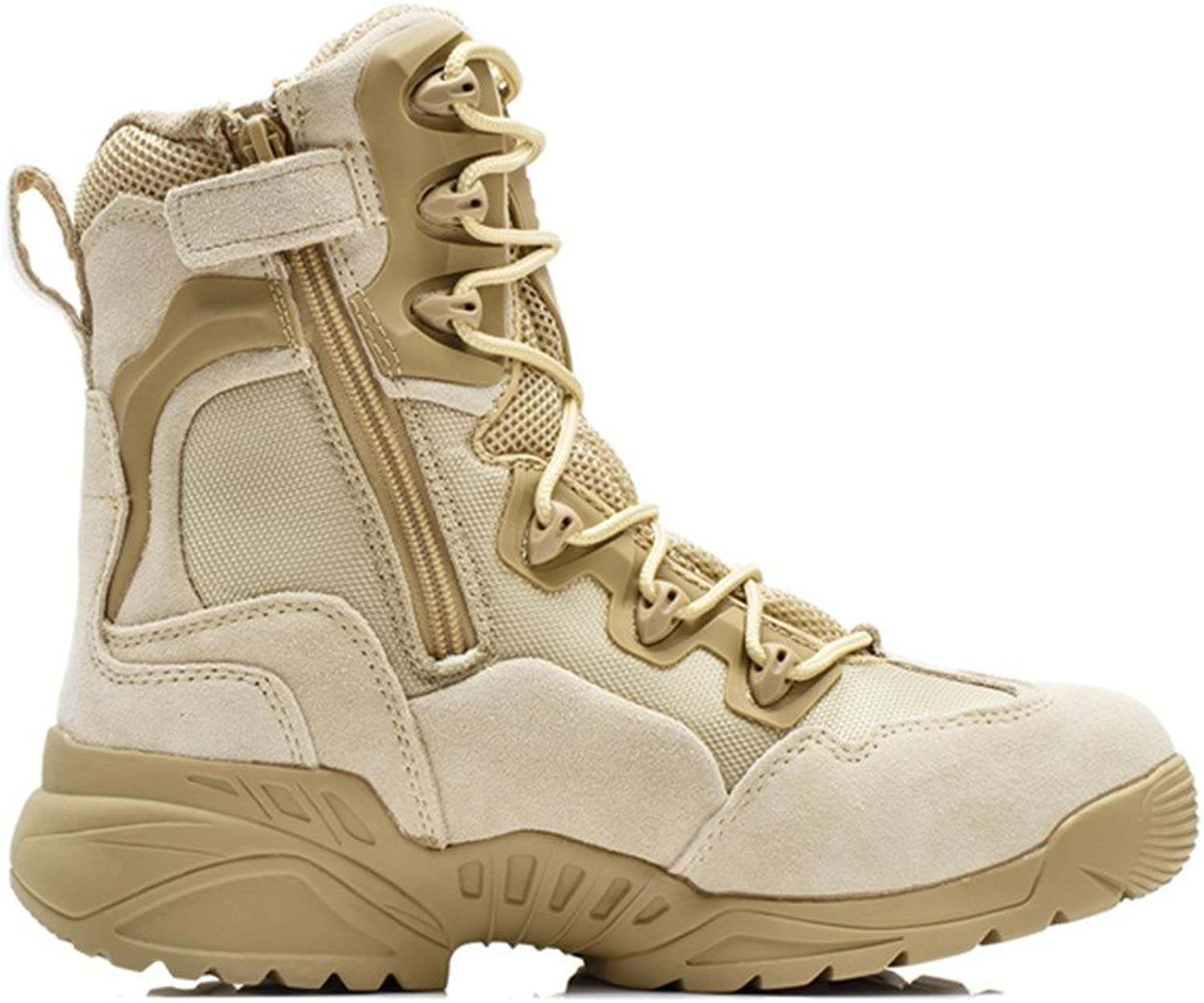 CHEJI-911 Men's 8 Inch Military and Tactical Boot with Side Zipper